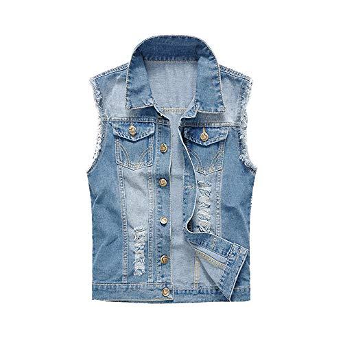 Denim Vest Men – Dark Jean Vest for Men, Men's Sleeveless Jeans Vest and Jacket motorcycle vests