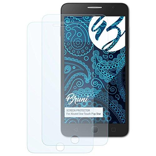 Bruni Schutzfolie kompatibel mit Alcatel One Touch Pop Star Folie, glasklare Bildschirmschutzfolie (2X)