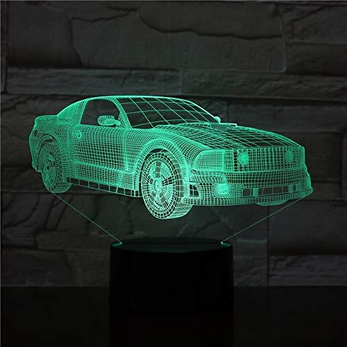 Jiushixw 3D acryl nachtlampje met afstandsbediening van kleur veranderende tafellamp auto bus fan design voor kinderen glijbaan cadeauverdeling kleine tafellamp eiken