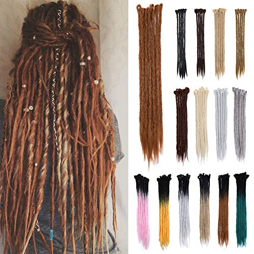 20' Dreadlock Extension Ombre For Hip-Hop Synthetic Heat Resistant Crochet Braiding Hair Handmade Reggae Extension Twist Braiding Hairpiece Box Braid For Man Women(10strands/2packs,coffee brown)