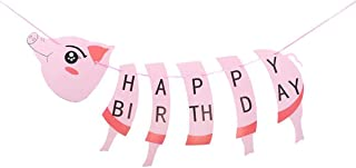 Cute Piggy Happy Birthday Banner – Paper Pig Party Supplies Decorations Garland Large