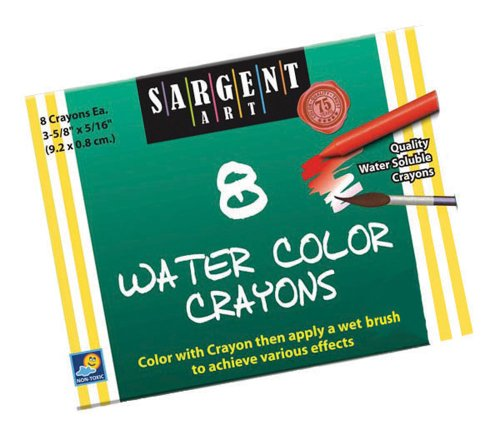 Sargent Art 22-1108 8-Count Water Color-Crayons