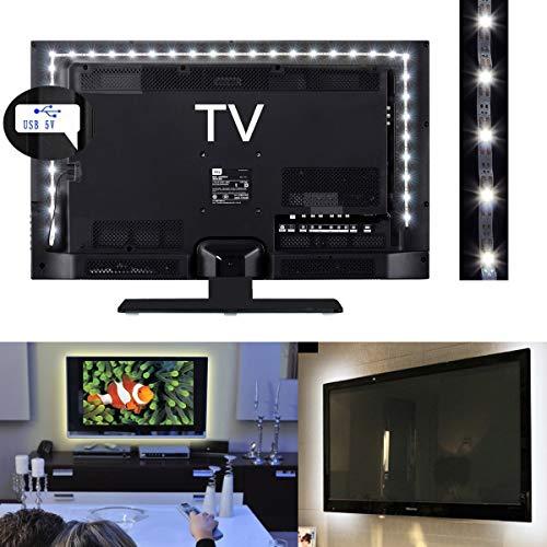 XingYue Direct 1M 2M 3M 5V Tira de luz LED Blanca USB Powered TV PC Back Mood Lighting Lámpara de Navidad (Color : White Light, Size : 3M)