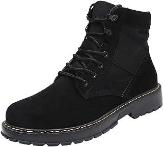 Bottines Homme Cuir En Daim Mode Pas Cher Grand Taille Boots Chelsea à Talon Plates Bottes Automne Hiver AntidéRapant Vint...
