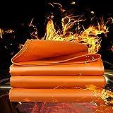 WMEIE Lonas Impermeables Exterior, Cubierta De Lona Multiusos De Lona Naranja Resistente para Acampar Al Aire Libre, Leña, Muebles De Jardín, Barbacoas, Coche De Barco,Naranja,3x5m
