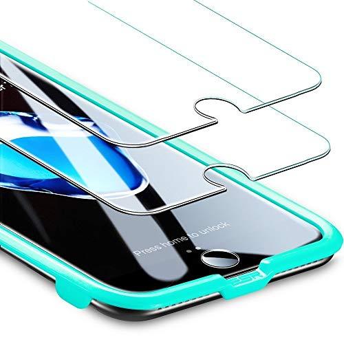 """ESR Panzerglas Folie [2 Stück] Displayschutz kompatibel mit iPhone 8/7/6/6S - 9H Display Schutzfolie mit Montageset ohne Blasen für das iPhone 8/7/6/6S 4,7"""""""