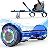 EverCross Hoverboard, 6.5' Self Balancing Scooter Hoverboards with Seat Attachment, Hover Board Scooter with Bluetooth & LED Light, Hoverboard for Kids and Adults