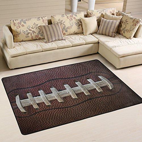 Naanle American Football Laces Rutschfester Teppich für Wohnzimmer, Esszimmer, Schlafzimmer, Küche, 50 x 80 cm, Multi, 120 x 180 cm(4' x 6')