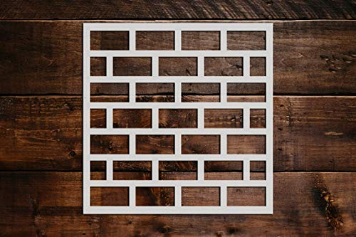 Brick Pattern Stencil DIY Reusable Craft and Painting Wall Stencils - 32 (16'x16')