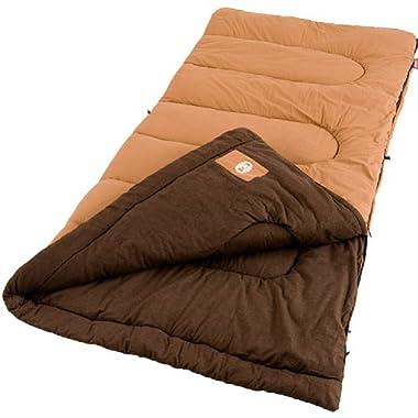 Coleman Dunnock Cold Weather Adult Sleeping Bag, Big and Tall