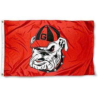 UGA Bulldogs Dawg 3x5 Flag