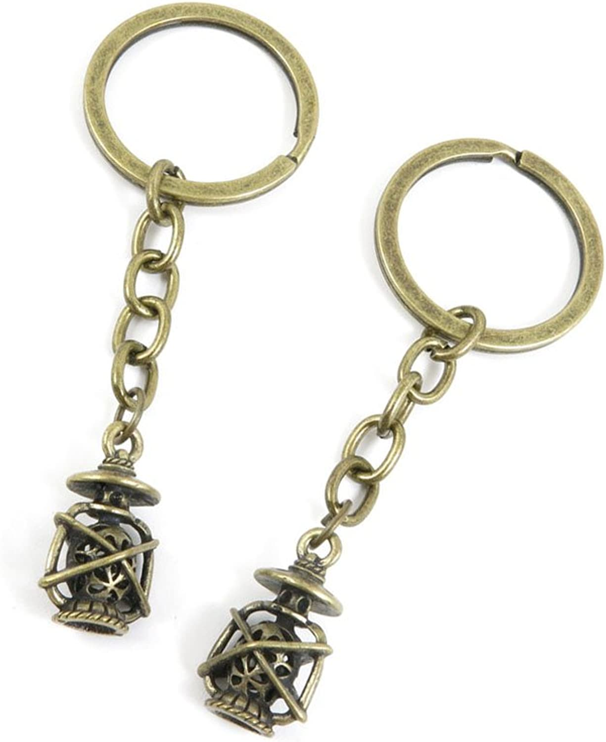 100 PCS Keyrings Keychains Key Ring Chains Tags Jewelry Findings Clasps Buckles Supplies O8HY4 Lantern