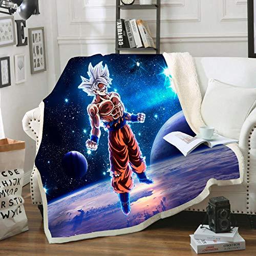 HGKY Parure de lit Dragon Ball Z - Couverture pour enfants et adultes - Extra douce et chaude - Couverture de canapé moelleuse - Couverture de climatisation (h 100 x 140 cm)