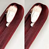 Fureya Synthetic Wigs for Women Heat Resistant Fiber Glueless Lace Front Ombre Wigs with Baby Hair...