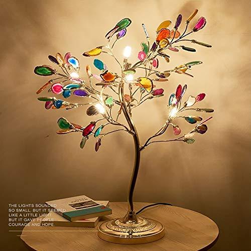 SWNN lámpara de mesa Lámpara De Mesa De Ágata Lámpara De Restaurante Creativa Nórdica Posmoderna Lámpara De Sala De Estar De Dormitorio Cálida Simple Lámpara De Pie De Rama De Personalidad