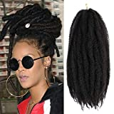 4 Packs Marley Hair 18 Inch Long Afro kinky Curly Marley braiding for Twists hair Extension Synthetic Fiber Marley Braid Crochet Hair (18 Inch, 2#)