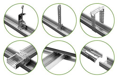 HEXIM Trockenbauzubehör für CD-Profile 60/27 - große Auswahl an Ankerhänger und Verbinder - je 10 Stück (Ankerschnellabhänger)