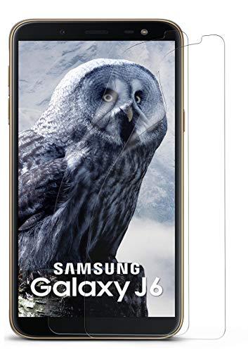 MoEx® Kristallklare HD Schutzfolie passend für Samsung Galaxy J6 (2018) | Premium Bildschirmfolie - Kratzfest & Fast unsichtbar - Ultra Klar