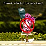 """Gouevn Soil Moisture Meter, Plant Moisture Meter Indoor & Outdoor, Hygrometer Moisture Sensor Soil Test Kit Plant Water… 10 🌼 SIMPLE and EFFECTIVE: Gouevn Soil moisture meter only for testing soil moisture, basic model works stably. Plug and read, responds quickly and provides easily readout. Large dial, ten scales. Includes watering guide for 200 plants printed on the back of the packaging. 🌼 INDOOR & OUTDOOR USE: A super helpful tool for your garden, Yard, lawn, Farm, potted plants etc. Especially is important for some delicate plants which are very sensitive to over or under watering. 🌼 LONG PROBE SENSOR: 7.7"""" probe length specifically designed for measure water at the root level, For use on any plant, even it is big potted plants."""