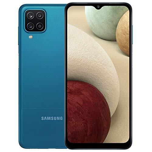 Samsung Galaxy A12 (A125M) 64GB Dual SIM, GSM Unlocked, (CDMA Verizon/Sprint Not Supported) Smartphone Latin American Version No Warranty (Blue)