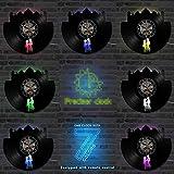 RelaxLife Relojes De Pared Película De Dibujos Animados CD Record Led Clock...
