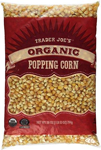 3 Packs Trader Joe's Organic Popping Corn