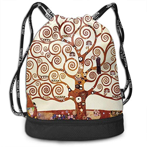 sunminey Turnbeutel Daypacks Lightweight Waterproof Large Storage Drawstring Bag for Men Women Tree of Life by Gustav Klimt Cinch Backpack Sackpack Tote Sack