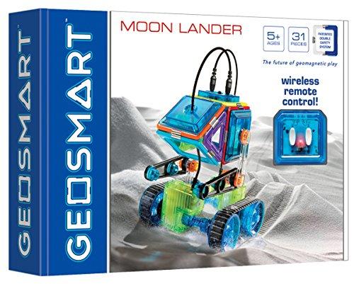 GeoSmart 250098 Moon Lander Fahrzeug-Baukasten mit Fernbedienung, Mehrfarbig