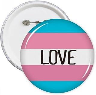 DIYthinker L'amour transgenre LGBT Support rond Pins Badge Bouton Vêtements Décoration cadeau 5pcs Multicolore XL