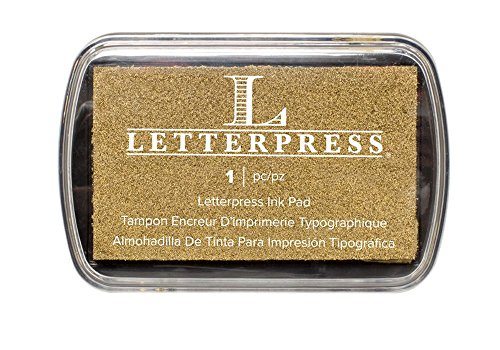 We R Memory Keepers Letterpress Tampone per Inchiostro, Colore: Oro