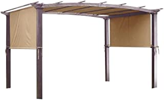 Pergolas New 17x6.5Ft Canopy Replacement Cover Outdoor Yard Patio Tan 200g UV30+