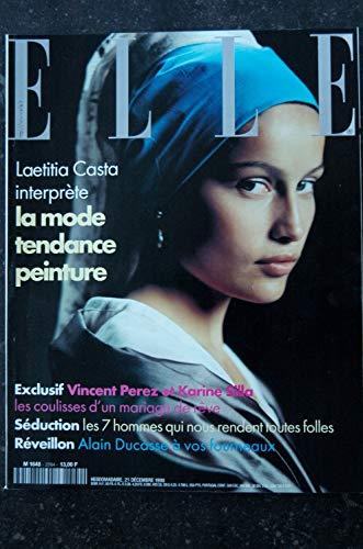 ELLE 2764 21 DECEMBRE 1998 COVER LAETITIA CASTA VINCENT PEREZ ET KARINE SILLA ALAIN DUCASSE