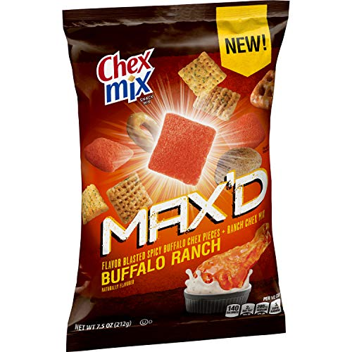 Chex Buffalo Ranch Snack Mix, Mix Max'D, (Pack of 8)