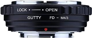GUTTY カメラレンズマウントアダプター:Canon FD FLレンズ、Olympus、Panasonic M4 / 3マウントカメラボディに対応
