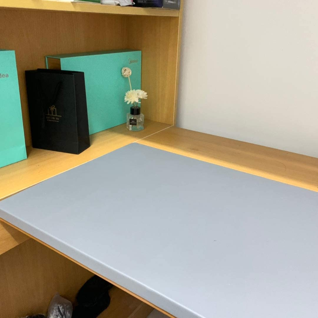 Desk Mat Desk Mat with Edge Protection Waterproof and Non-Slip 60 x 40 cm Black Luxury PU Leather Large Mouse Mat