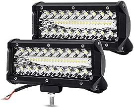 7 Inch LED Light Bar LED Pods YITAMOTOR 2PCS 240W Spot Flood Combo Light 32000LM Waterproof LED Work Light Off Road Driving Fog Lamps Compatible for Jeep Truck Tractor Pickup Boat UTV ATV