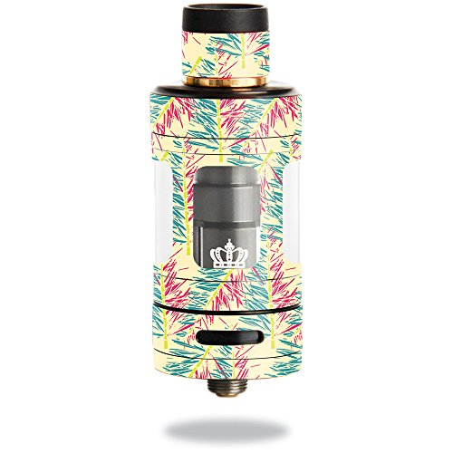MightySkins Skin Compatible with Uwell Crown 3 Tank – Electric Palms | Protective, Durable, and Unique Vinyl Decal wrap Cover | Easy to Apply, Remove, and Change Styles | Made in The USA