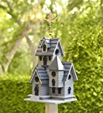 Wind & Weather Gothic Castle Birdhouse with Metal Dragon Weathervane, Functional Birdhouse, Easy-Clean Back Panel, Dramatically Detailed, 11' L x 8½'W x 23' H