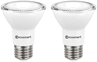 4 Pack, New Version CRI85+,72 Hours Tested Spotlight E26 Base 38/° MARCHTOP 4000K Bright White PAR20 Dimmable LED Bulb 7W