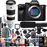 Sony a7R IV Full-Frame Mirrorless Camera Body FE 200-600mm F5.6-6.3 G OSS Telephoto Lens ILCE-7RM4 + SEL200600G Bundle with Photo Video LED, Monopod, Software, Deco Gear Backpack & Accessories