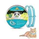Collare calmante per Gatti, Collare Anti-ansia con Dimensioni Regolabili, 2 Mesi di Protezione, Effetto Calmante Impermeabile Sicuro Naturale Duraturo Rilievo di Ansia Collare ai Feromoni per Gatti