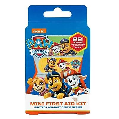 Paw Patrol Mini Kit De Primeros Auxilios Para Niños, Incluye Tiritas y Toallitas (x22) por Jellyworks Healthcare Ltd.