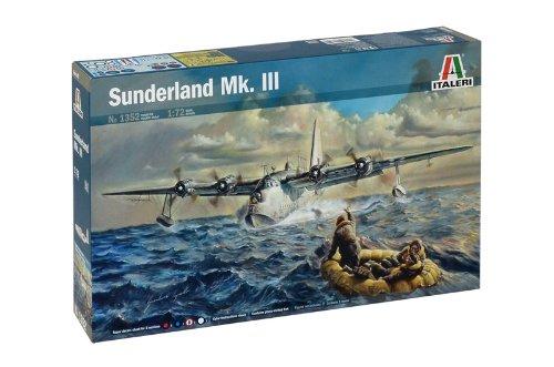 Italeri – Sunderland MK. III – Wasserflugzeug Modellbausatz, Maßstab 1:72, Zweiter Weltkrieg Flugboot, 36 cm lang