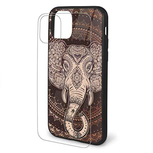 Oriental Elephant TPU Glass Phone Case Funda Protectora Flexible para teléfono de Dibujos Animados para iPhone 11 Pro MAX Case