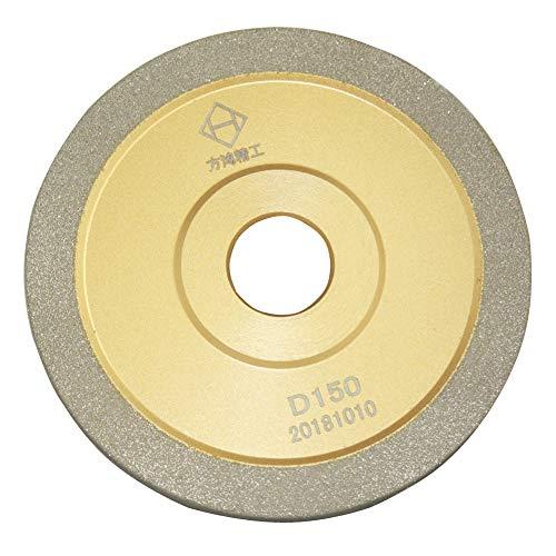 6 inch Brazed Diamond Grinding Wheel Cutter Grinder Tool Diamond Grinder Wheel Flat Wheel Grit 150 (Gold, 6 inch (150mm))