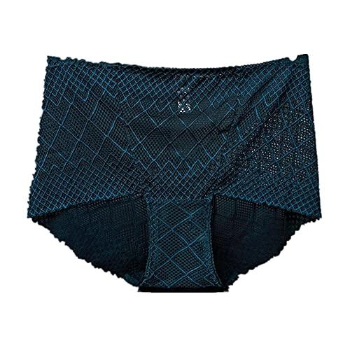 Bragas sexis de encaje para mujer, lencería para mujer, calzoncillos cortos de malla, ropa interior de talla grande ahuecada, Tanga, Tanga, ropa interior