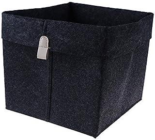 Boîte de Rangement Panier de rangement feutaire 1PC Salon Noir Gris Sundres Suns De Stockage Panier En feutre Entretière B...