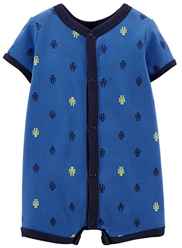 Carter's Baby Boys' Print Romper (Baby) - Robots - 6 Months