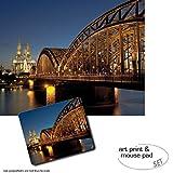 1art1 Köln, Hohenzollernbrücke Und Kölner Dom Bei Nacht
