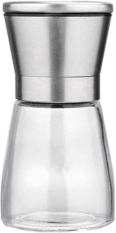 YJYdada Premium Salt And Pepper Grinder Set Best Copper Stainless Steel Mill For Home Chef Magnetic Lids Grinders With Easy Adjustable Coarseness